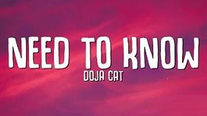 Doja Cat - Need To Know